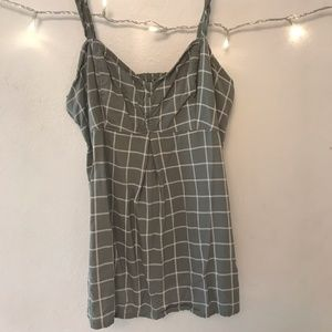 Green patterned Abercrombie & Fitch Tank